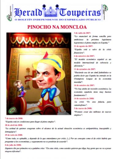 Pinocho na Moncloa