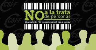 Cartel de CSI-F no Día Internacional contra a Trata de ePersoas