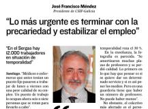 José Fco. Méndez. Entrevista ECG
